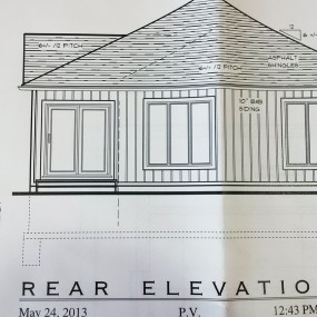 Blueprint: Rear Elevation