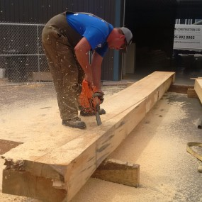Cutting timber radius