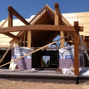 Timber frame patio