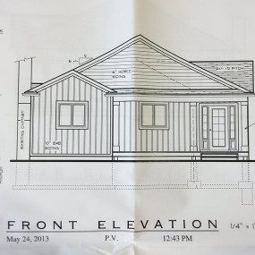 Blueprint: Front Elevation