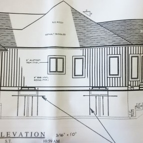 Blueprint: Right Elevation