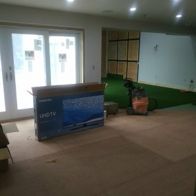 Fitness room sub-flooring