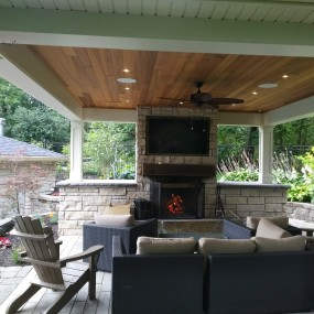 Outdoor covered living space