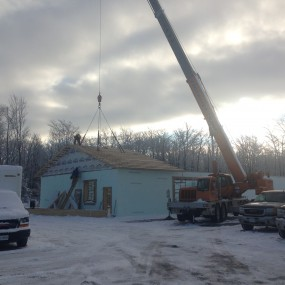 Lifting Roof Truss Quadrant With Crane